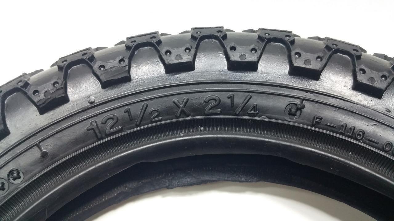 "qty 1 Kids Bicycle Tire 12-1/2 x 2-1/4"" Black MX3 12"" Boy Gi"