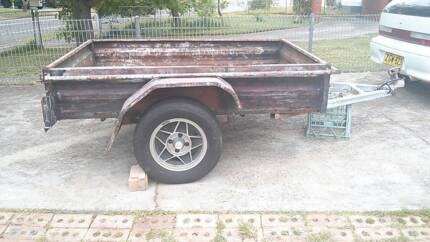 box trailer 6x4 rust in floor 13 inch mag wheels Mount Druitt Blacktown Area Preview