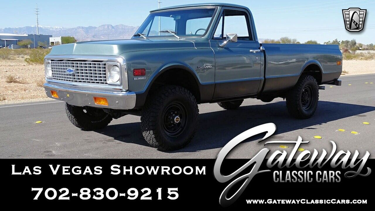 Green 1972 Chevrolet Cheyenne Long Bed V8 4 Speed Automatic Available Now!