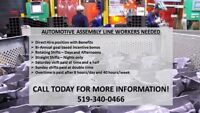 Full time Automotive Assembly positions- 519-340-0466