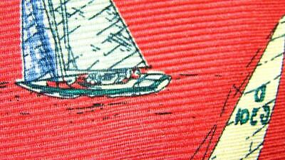 POLO RALPH LAUREN SAILING BOATS RED KHAKI BLUE SILK NECKTIE TIE MMA0619A #R02 for sale  Shipping to India