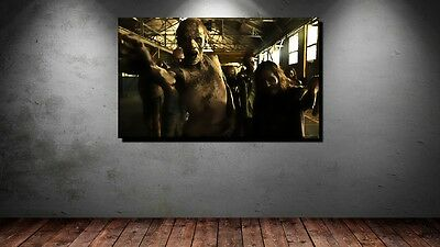 PART ZOMBIE HORDE HORROR HALLOWEEN BUNT ABSTRAKT BIS 150x90 (Halloween Abstrakt)