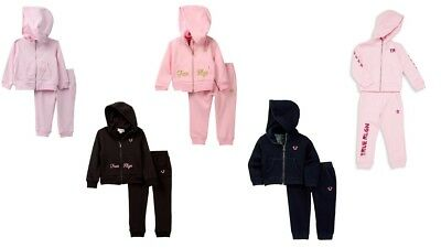 - True Religion Infant Girl's Outfit Hoodie Sweatpant Set Sweatsuit NEW baby girls