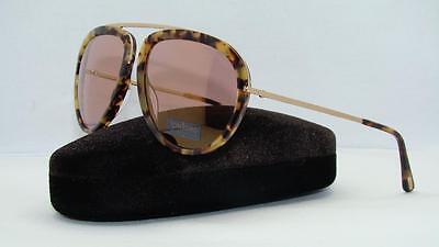 4c9a767bcd9 Tom Ford Stacy TF 452 53Z Blonde Havana Aviator Sunglasses Rose Gold Mirror  Lens
