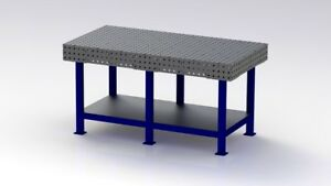 Welding Bench / Jig Table / Fixture Table DXF Files 1750mm X 900mm Plans