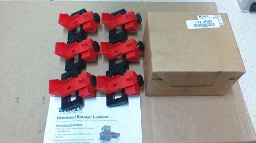 (6)  BRADY 65321 / GRAINGER (1) 3TM25 OVERSIZED BREAKER LOCKOUTS / NEDA Y67549
