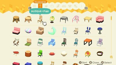 Animal Crossing New Horizons Housewares Furniture, Pick 1 out of the list!