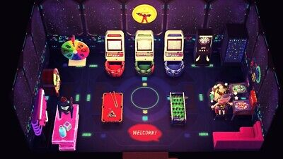 Animal crossing: Space+Arcade Furniture set (Cool, cyber, rare) 26 pieces +W/F