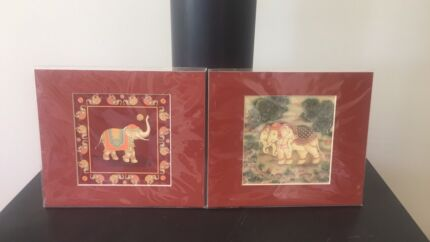2 X Jim Thompson Elephant prints -Brand New