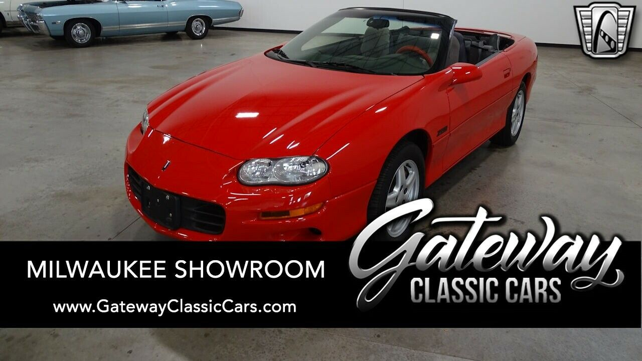 Red 1998 Chevrolet Camaro Convertible 5.7L V8    F OHV 4A w/ Elec. OD Available