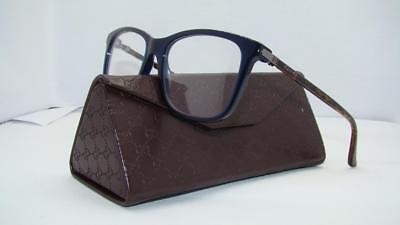 Gucci GG0018O 007 0018O Blue-Havana Frames Glasses Eyeglasses Size 54