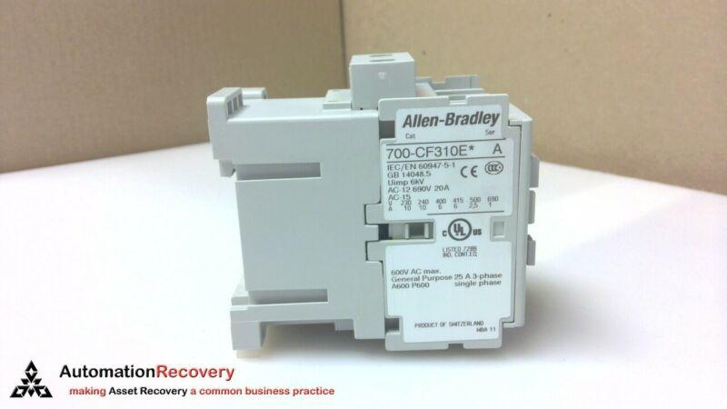 Allen Bradley 700-cf310ej Ser A, Industrial Control Relay, New* #230007