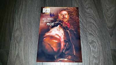 "THE WALKING DEAD : NEGAN PP SIGNED 12""X8"" A4 PHOTO POSTER JEFFREY DEAN MORGAN"