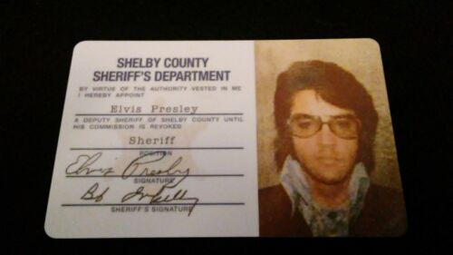 Elvis Presley Shelby County Credentials Card Prop Replica *NEW ITEM*