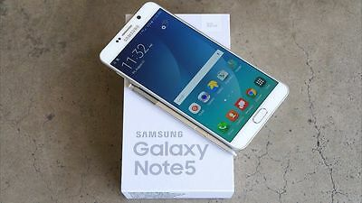 New Unlocked White Samsung Galaxy Note 5 SM-N920A 32gb 4G LTE Smartphone