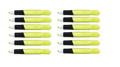 Highlighter Bright Yellow Chisel Tip With Rubber Grip. 12 Each