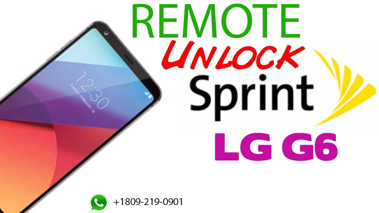 LG G6 LS993 SPRINT SIM UNLOCK REMOTE NO CODE - $7.00