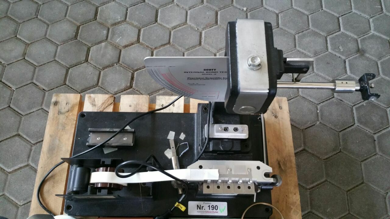 Spaltfestigkeitsprüfgerät Fabr. Scott Typ Internal Bond Tester Model B