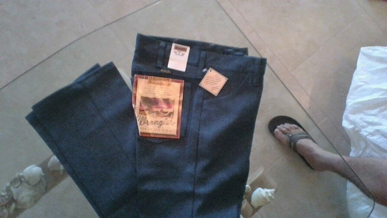 Wrangler Mens Blue Rancher Wrancher  Polyester Pants Dress J