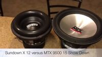 Mtx 9500 15' subwoofer  1000w rms obo