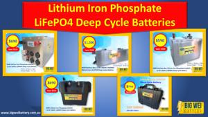 Big Wei Battery - Lithium Iron LiFePO4 Batteries at Low Prices! Slacks Creek Logan Area Preview