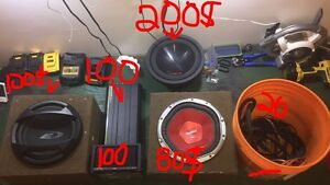 Subwoofers, amp,deck,wiring kit