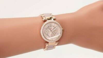 NEW GENUINE MICHAEL KORS PARKER ROSE MINI 33MM WOMEN WATCH MK6110 RRP 279£ UK
