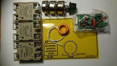 Xssvr 240v40a Solid State Relay Adjustible Kit3 Phase Power Control