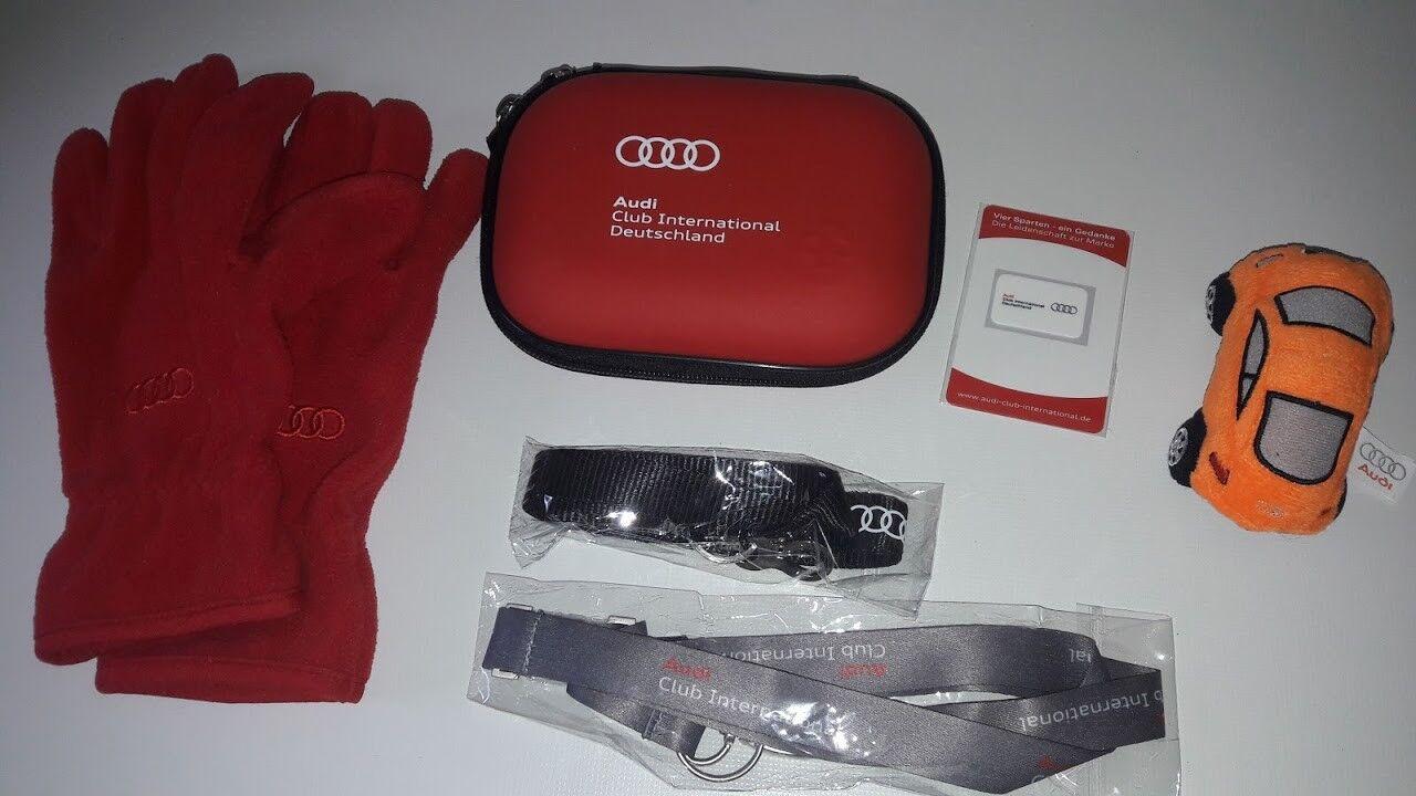 AUSWAHL Pin Stecker Display Audi Zubehör Schlüsselband Handschuh Etui Dose NEU