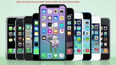 IPHONE LOCK UNLOCK SIM STATUS IPHONE CARRIER NETWORK LOCK UNLOCK CHECK ANY MODEL
