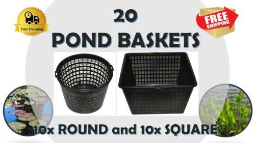 Aquatic plant pond basket (10 Round-10 Square)