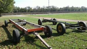Two farm wagons