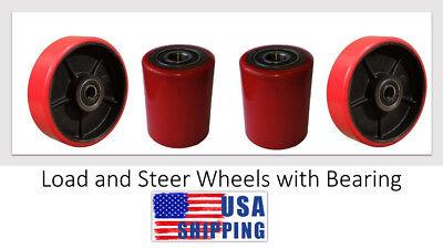 Usa Eoslift Pallet Truckjack Pu Loading Steering Wheels W Bearing Replacement