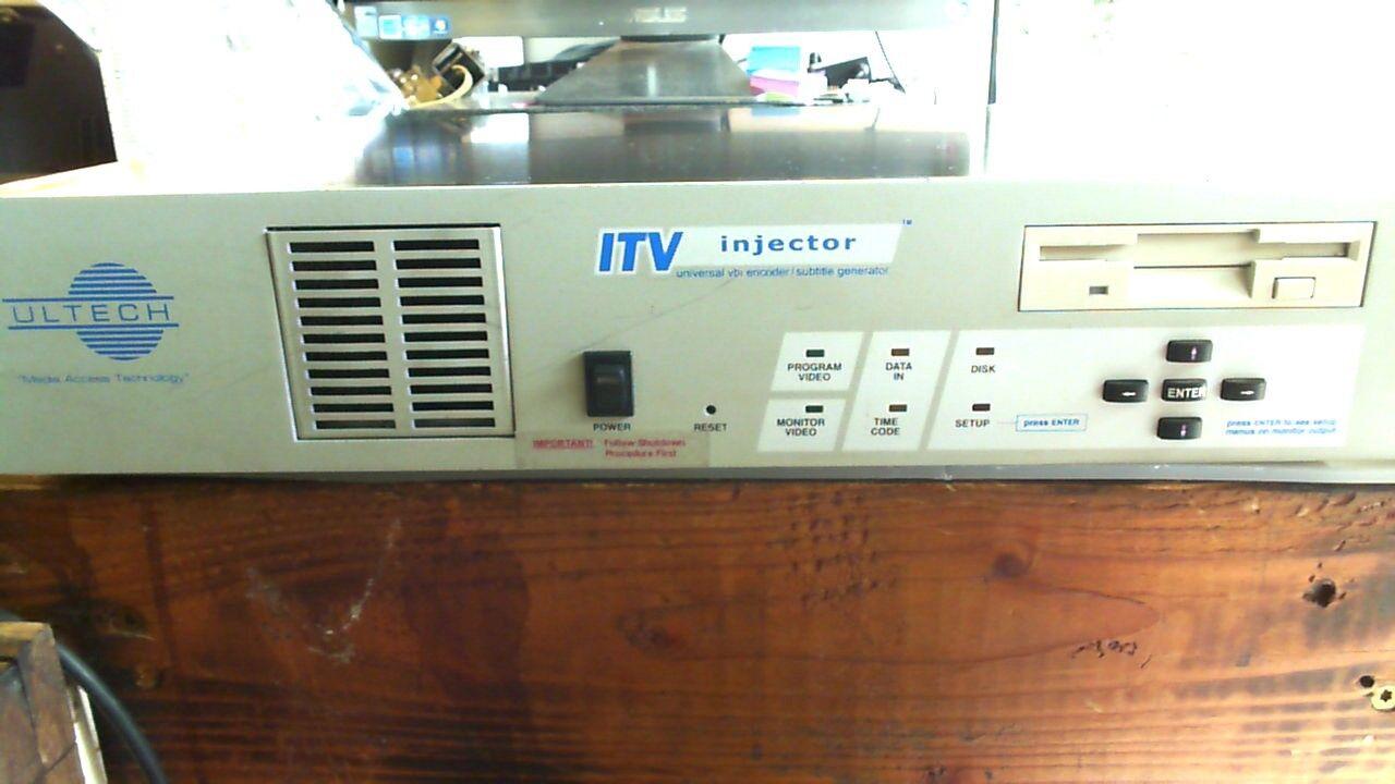 ULTECH ITV INJECTOR DV2000 UNIVERSAL VBI ENCODER/SUBTITLE GENERATOR