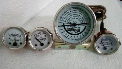 Tachometer Gauge Set Fits John Deere Tractor 5060 - White Face