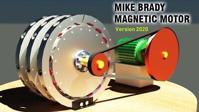 Magnetic Motor Mike Brady Free Energy Generator 3d Model Stl Step Dwg 3d Print