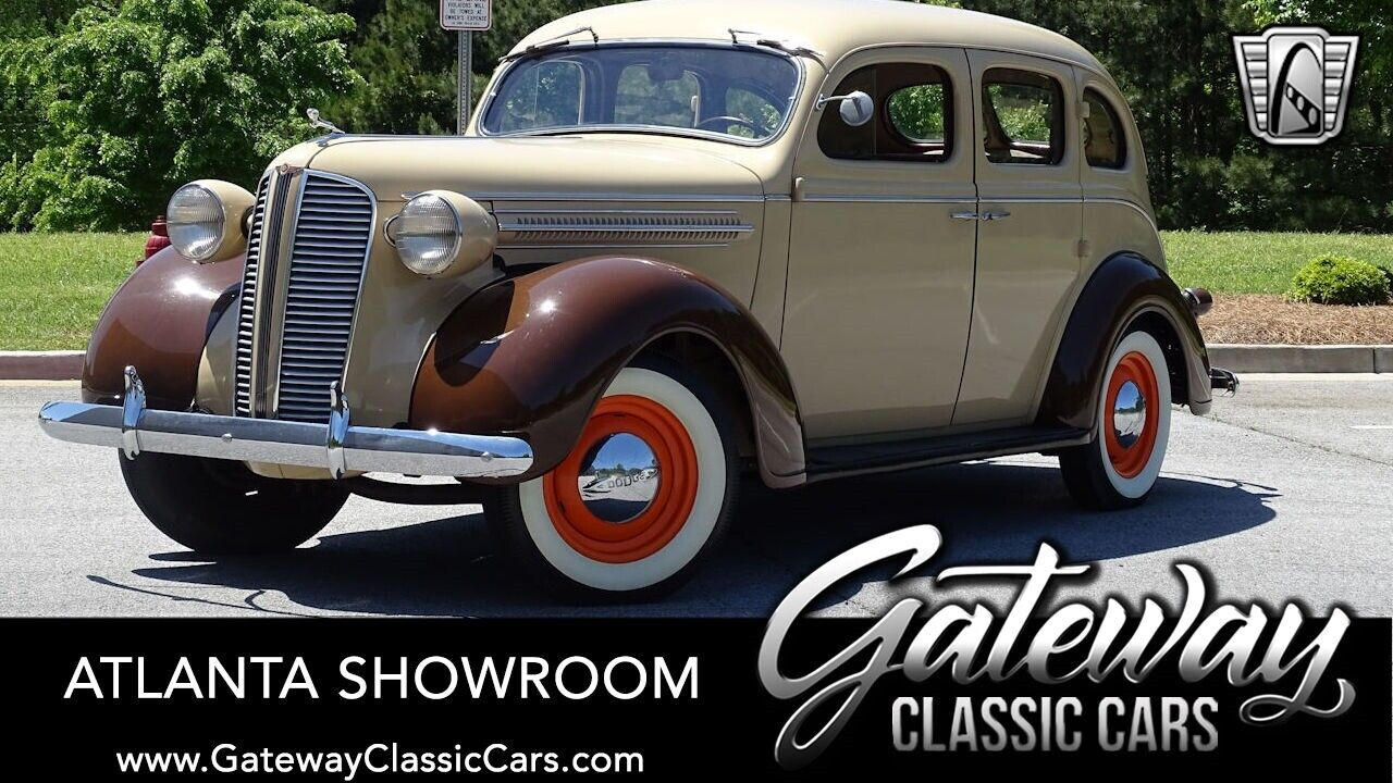 1937 Dodge D5  Tan/Brown 1937 Dodge D5 Sedan 218 CID Flathead 6-Cylinder 3 Speed Manual Availab
