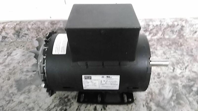 Weg 13521268 5 HP 3440 RPM 230VAC Cap-Start/Run Air Compressor Motor (D)