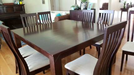 8 Seater Square Large Dining Table Suite