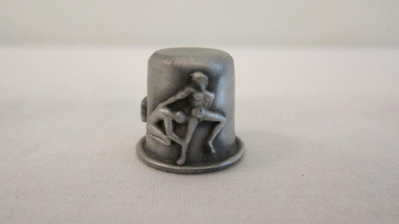 Vintage RR Pewter Sewing Thimble Zodiac Sign Gemini Twins