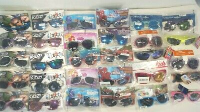 Wholesale Lot 25 Prs Kids Sunglasses Assorted Foster Grant, Disney, & more  NEW