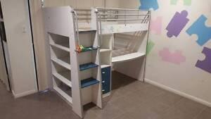 KIDS BUNK BED, desk, drawers, shelves, (blue or purple steps) Bentley Park Cairns City Preview
