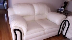 3 Modern White Leather Couches/Sofas for SALE!