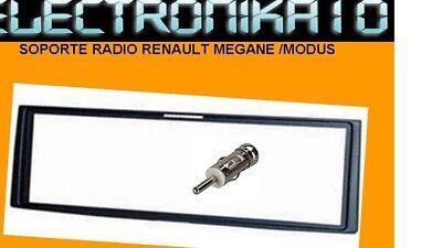 Marco montaje auto-radio Renault Clio 05 Megane 03 Modus + adaptador antena iso segunda mano  Embacar hacia Argentina