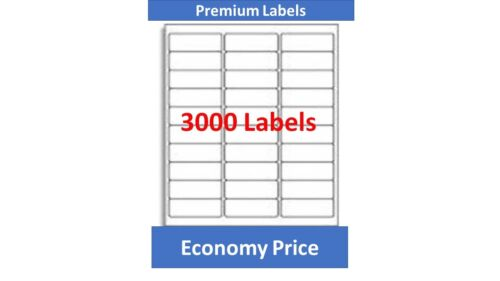 Shipping and Mailing 30 Up Labels, 1 x 2-5/8 inches, 3000 Count