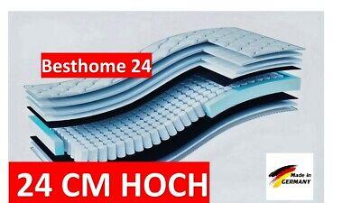 Matratze 90x200 Taschenfederkern XXL 7 Zonen Höhe 24 cm H3 Bett Orthopädisch