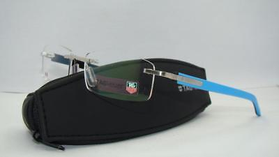 Tag Heuer TRENDS 8108 009 Azur Blue &Black Rimless Brille Eyeglasses Frames 54mm