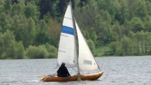 Metzeler 14' Inflatable sail boat