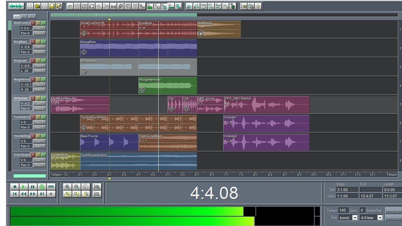 Cool Edit Pro 2.1 Multi-track Audio Editor With Additional Set Of Filters - $7.50