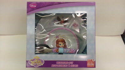 DISNEY SOFIA THE FIRST KID 4 PIECES DINNERWARE MEALTIME SET NEW MUST L@@K